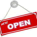 Square webshop open sign
