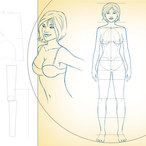 Square drawing female proportions surface anatomy 881 v1